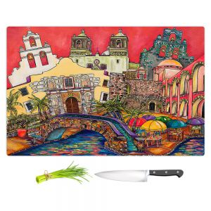 Artistic Kitchen Bar Cutting Boards | Patti Schermerhorn - Tourist San Antonio | city map town state tourist