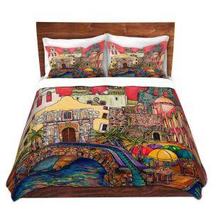 Artistic Duvet Covers and Shams Bedding | Patti Schermerhorn - Tourist San Antonio | city map town state tourist
