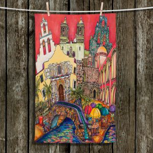 Unique Hanging Tea Towels | Patti Schermerhorn - Tourist San Antonio | city map town state tourist