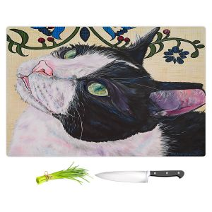 Artistic Kitchen Bar Cutting Boards | Patti Schermerhorn - Tuxedo Cat | Animals Cats