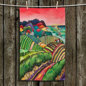 Unique Hanging Tea Towels | Patti Schermerhorn - Vineyard