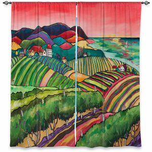 Decorative Window Treatments | Patti Schermerhorn - Vineyard | Hills Wine