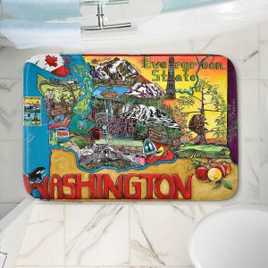 Decorative Bathroom Mats | Patti Schermerhorn - Washington State | usa america map