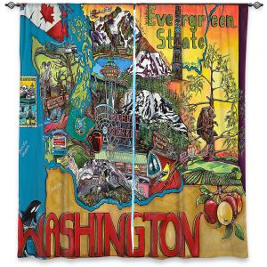 Decorative Window Treatments | Patti Schermerhorn - Washington State | usa america map