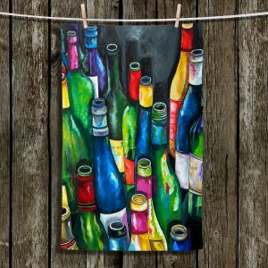 Unique Hanging Tea Towels | Patti Schermerhorn - Wine Collection | Wine Bottles