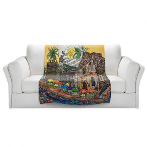 Artistic Sherpa Pile Blankets | Patti Schermerhorn - Yellow Rose texas