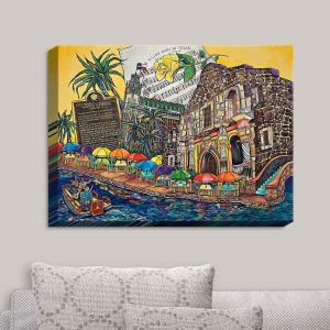 Decorative Canvas Wall Art   Patti Schermerhorn - Yellow Rose Texas   Music Waterfront Places