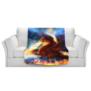 Artistic Sherpa Pile Blankets   Philip Straub Lord of the Celesetial Dragons