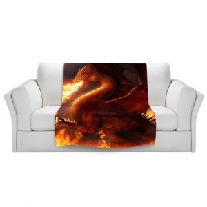 Artistic Sherpa Pile Blankets   Philip Straub Lord of the Dragons