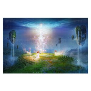 Decorative Floor Covering Mats | Philip Straub - Circle of Satori 2 | fantasy spiritual angels mountains