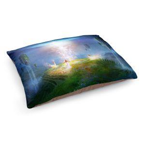 Decorative Dog Pet Beds | Philip Straub - Circle of Satori 2 | fantasy spiritual angels mountains