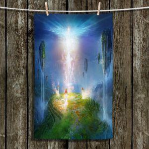 Unique Bathroom Towels   Philip Straub - Circle of Satori 2   fantasy spiritual angels mountains