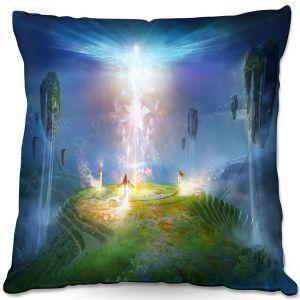 Throw Pillows Decorative Artistic | Philip Straub - Circle of Satori 2 | fantasy spiritual angels mountains