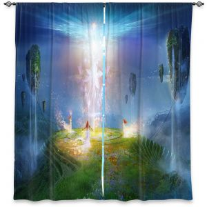 Decorative Window Treatments | Philip Straub - Circle of Satori 2 | fantasy spiritual angels mountains