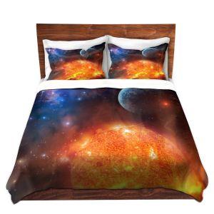 Artistic Duvet Covers and Shams Bedding | Philip Straub - Creation Stars Planets Moon