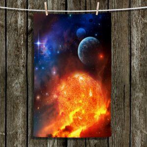 Unique Bathroom Towels   Philip Straub - Creation Stars Planets Moon