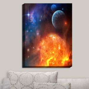 Decorative Canvas Wall Art | Philip Straub - Creation Stars Planets Moon
