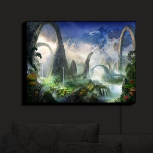 Nightlight Sconce Canvas Light   Philip Straub - Great North Road   fantasy landscape mountains waterfall