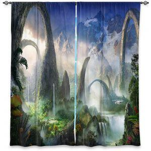 Decorative Window Treatments | Philip Straub - Great North Road | fantasy landscape mountains waterfall