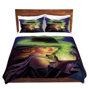 Artistic Duvet Covers and Shams Bedding | Philip Straub - Hex of the Witch | fantasy halloween spooky magic