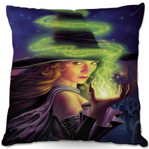 Throw Pillows Decorative Artistic | Philip Straub - Hex of the Witch | fantasy halloween spooky magic