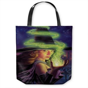 Unique Shoulder Bag Tote Bags | Philip Straub - Hex of the Witch | fantasy halloween spooky magic