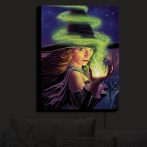 Nightlight Sconce Canvas Light | Philip Straub - Hex of the Witch | fantasy halloween spooky magic