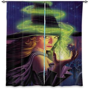 Decorative Window Treatments | Philip Straub - Hex of the Witch | fantasy halloween spooky magic