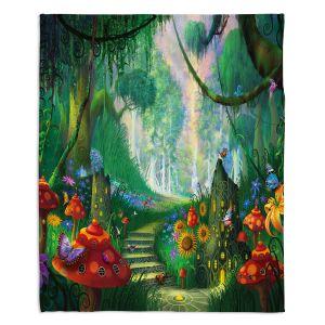 Decorative Fleece Throw Blankets | Philip Straub - Hidden treasure