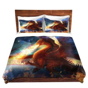 Artistic Duvet Covers and Shams Bedding | Philip Straub - Lord of the Celestial Dragons