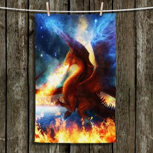 Unique Hanging Tea Towels | Philip Straub - Lord of the Celestial Dragons | Fantasy Mystical Stars