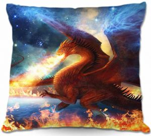 Throw Pillows Decorative Artistic | Philip Straub Lord of the Celesetial Dragons