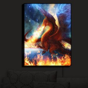 Nightlight Sconce Canvas Light   Philip Straub's Lord of the Celesetial Dragons
