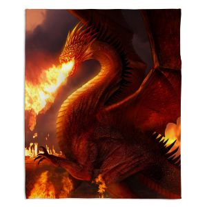 Artistic Sherpa Pile Blankets | Philip Straub Lord of the Dragons