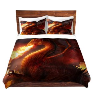 Artistic Duvet Covers and Shams Bedding | Philip Straub - Lord of the Dragons