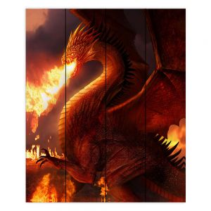Decorative Wood Plank Wall Art | Philip Straub Lord of the Dragons
