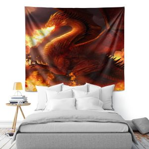 Artistic Wall Tapestry | Philip Straub Lord of the Dragons