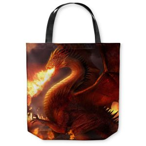 Unique Shoulder Bag Tote Bags | Philip Straub Lord of the Dragons