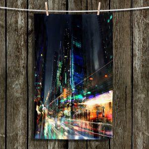 Unique Bathroom Towels | Philip Straub - Night City Final 3 | cityscape people nightlife rain