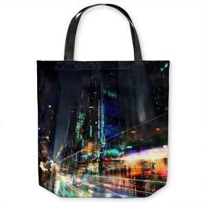 Unique Shoulder Bag Tote Bags   Philip Straub - Night City Final 3   cityscape people nightlife rain