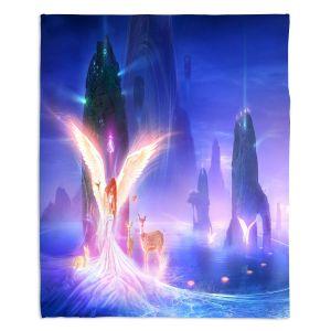 Artistic Sherpa Pile Blankets | Philip Straub - Ooulana | spiritual angel nature fantasy