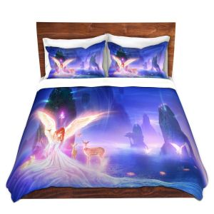 Artistic Duvet Covers and Shams Bedding | Philip Straub - Ooulana | spiritual angel nature fantasy