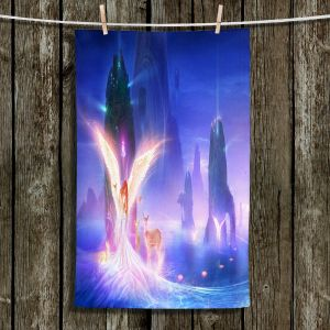Unique Hanging Tea Towels   Philip Straub - Ooulana   spiritual angel nature fantasy