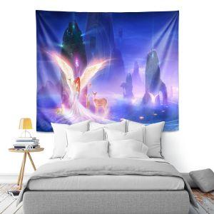 Artistic Wall Tapestry | Philip Straub - Ooulana | spiritual angel nature fantasy