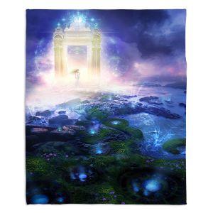 Decorative Fleece Throw Blankets | Philip Straub - Passage to Hope | spiritual fantasy angel landscape