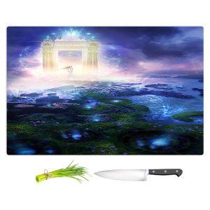 Artistic Kitchen Bar Cutting Boards | Philip Straub - Passage to Hope | spiritual fantasy angel landscape