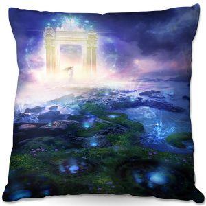 Throw Pillows Decorative Artistic | Philip Straub - Passage to Hope | spiritual fantasy angel landscape