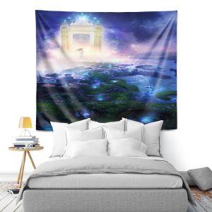 Artistic Wall Tapestry | Philip Straub - Passage to Hope | spiritual fantasy angel landscape