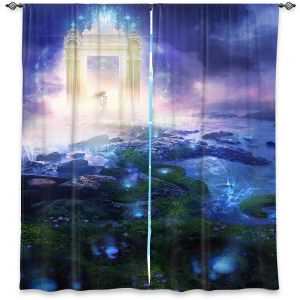 Decorative Window Treatments | Philip Straub - Passage to Hope | spiritual fantasy angel landscape