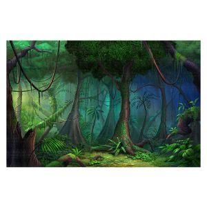Decorative Floor Covering Mats | Philip Straub - Rainforest | landscape nature jungle tree